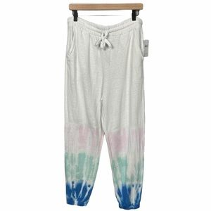 Splendid White Tie Dyed Joggers Size Large NEW